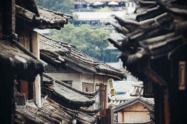 中国の古い町並み