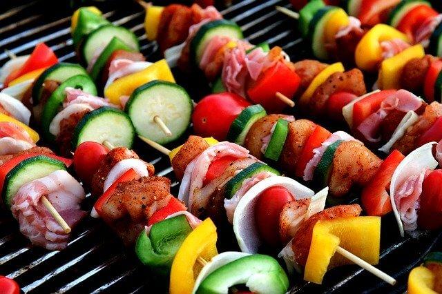 肉と野菜のバーベキュー